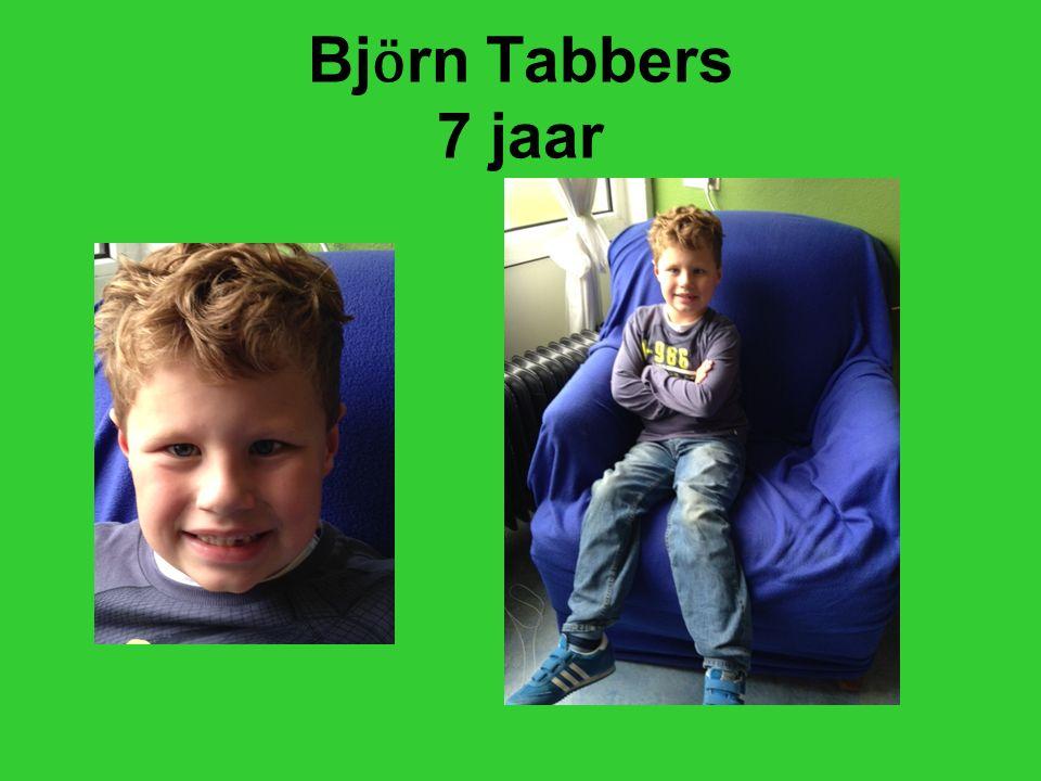 Bj ӧ rn Tabbers 7 jaar