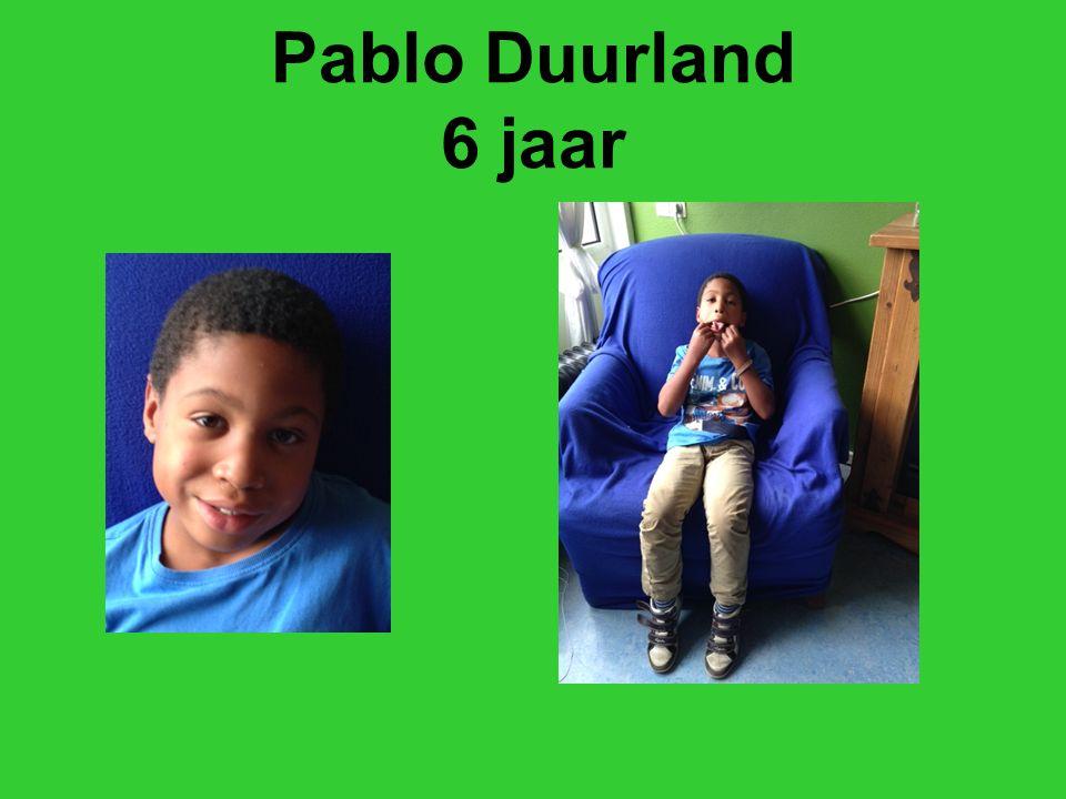 Pablo Duurland 6 jaar