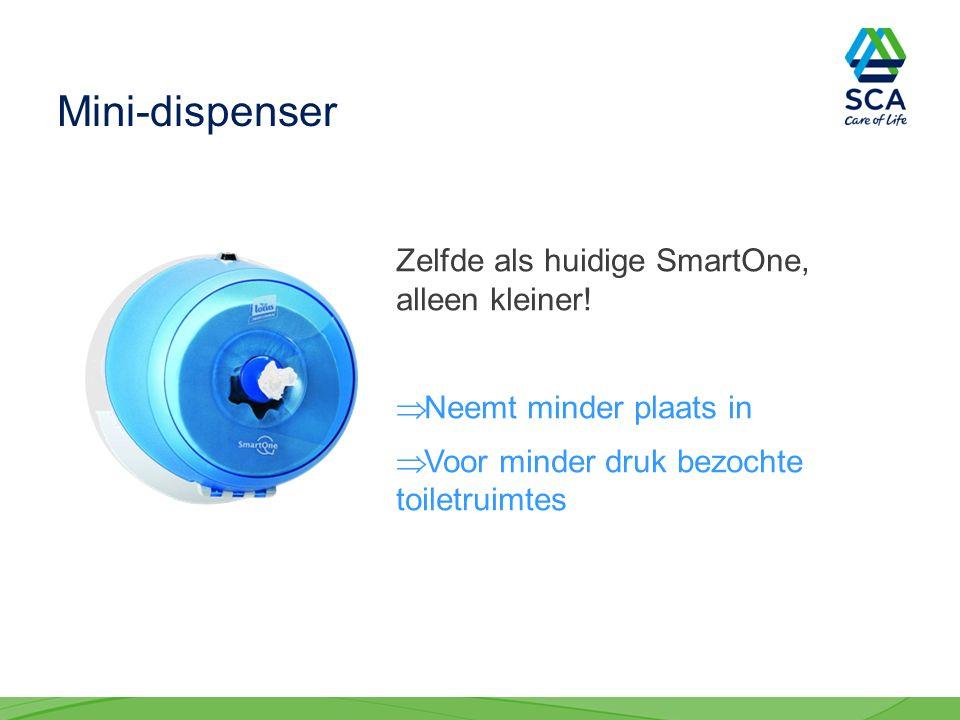 Mini-dispenser Zelfde als huidige SmartOne, alleen kleiner.