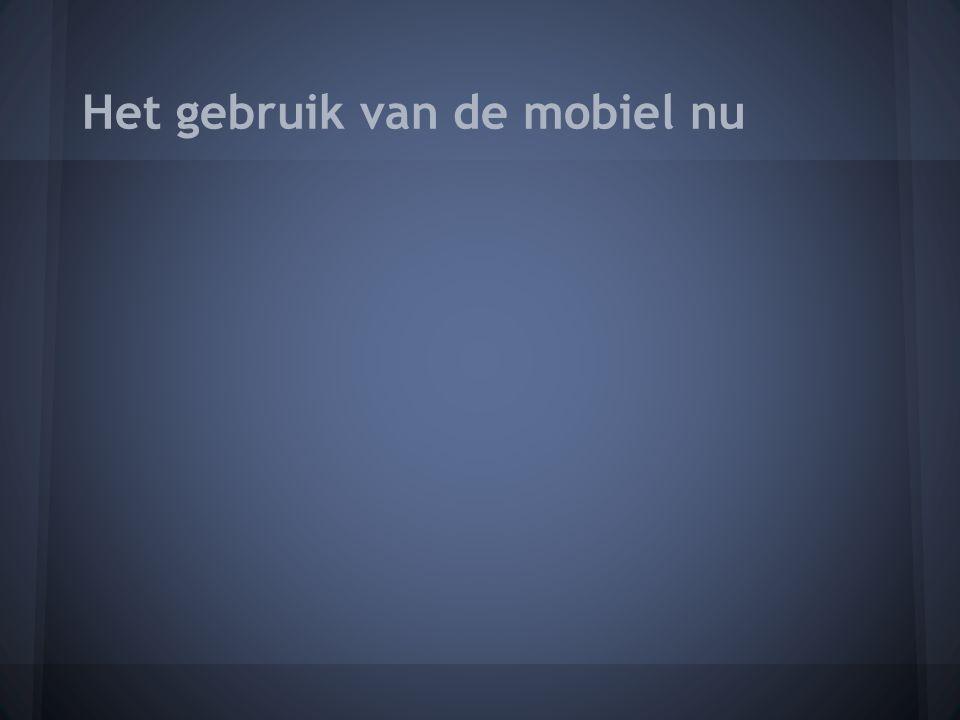 Het gebruik van de mobiel nu