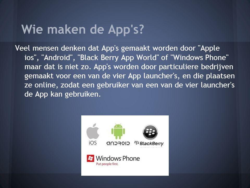 Wie maken de App s.
