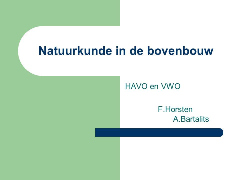 Natuurkunde in de bovenbouw HAVO en VWO F.Horsten A.Bartalits