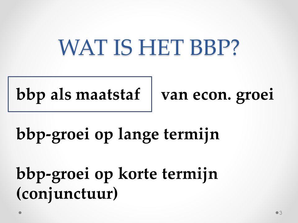 WAT IS HET BNP? bbp + verdiende factorinkomens - betaalde factorinkomens = bnp 4