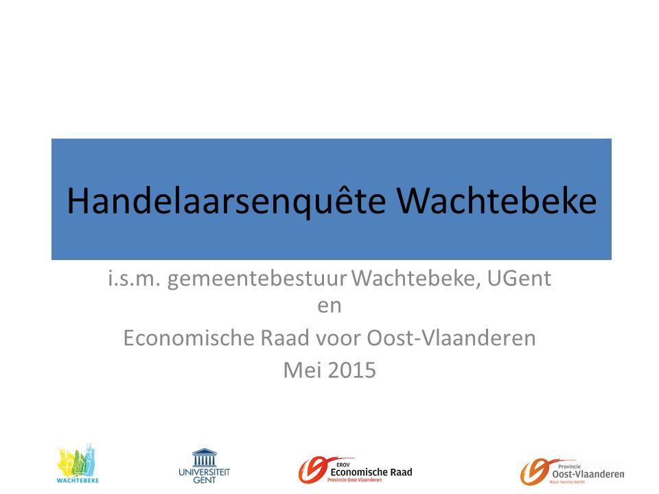 Handelaarsenquête Wachtebeke i.s.m.