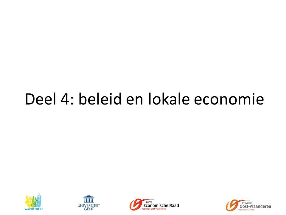 Deel 4: beleid en lokale economie