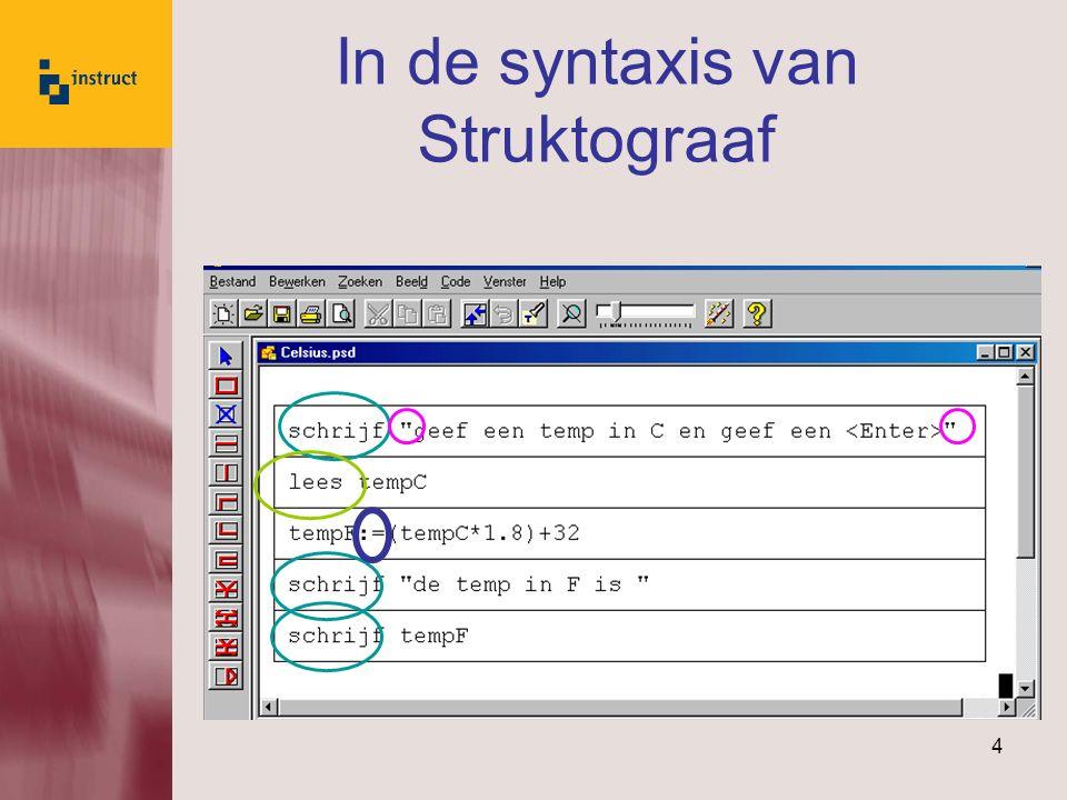 4 In de syntaxis van Struktograaf