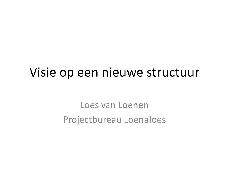 Visie op een nieuwe structuur Loes van Loenen Projectbureau Loenaloes