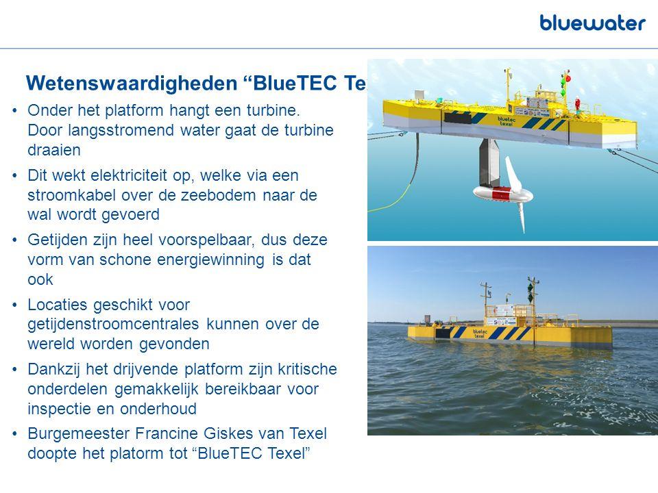 Wetenswaardigheden BlueTEC Texel Onder het platform hangt een turbine.
