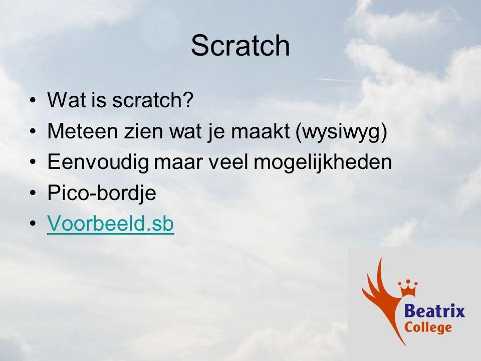 Scratch Wat is scratch.