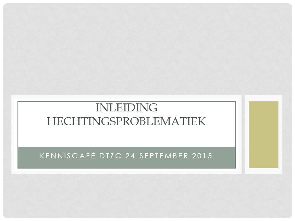 KENNISCAFÉ DTZC 24 SEPTEMBER 2015 INLEIDING HECHTINGSPROBLEMATIEK