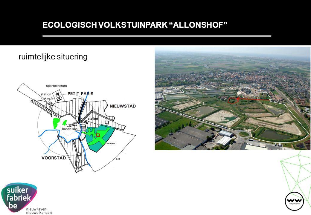 ruimtelijke situering ECOLOGISCH VOLKSTUINPARK ALLONSHOF