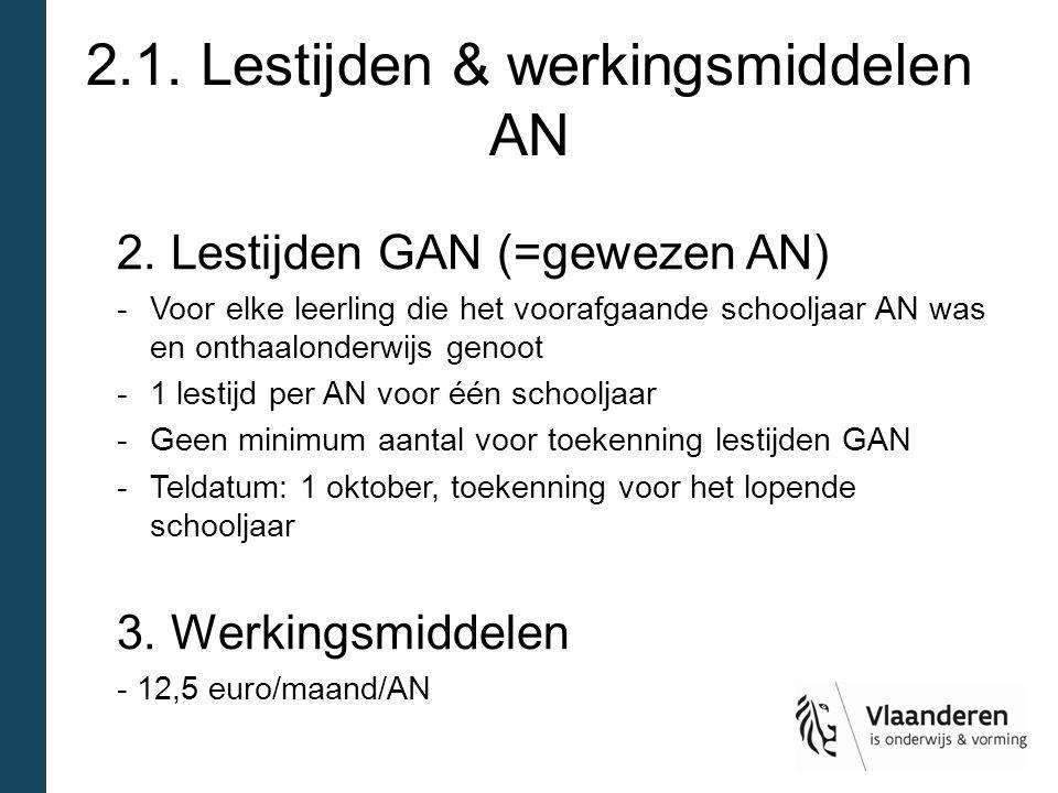 2.1.Lestijden & werkingsmiddelen AN 2.