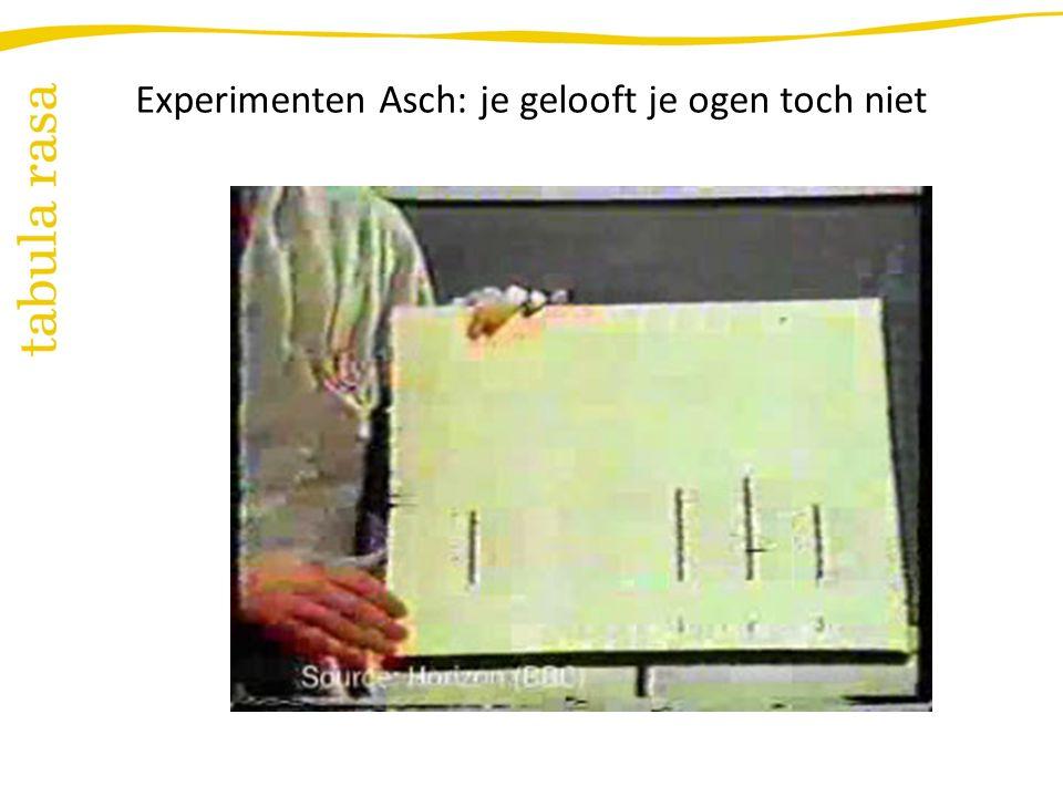Experimenten Asch: je gelooft je ogen toch niet