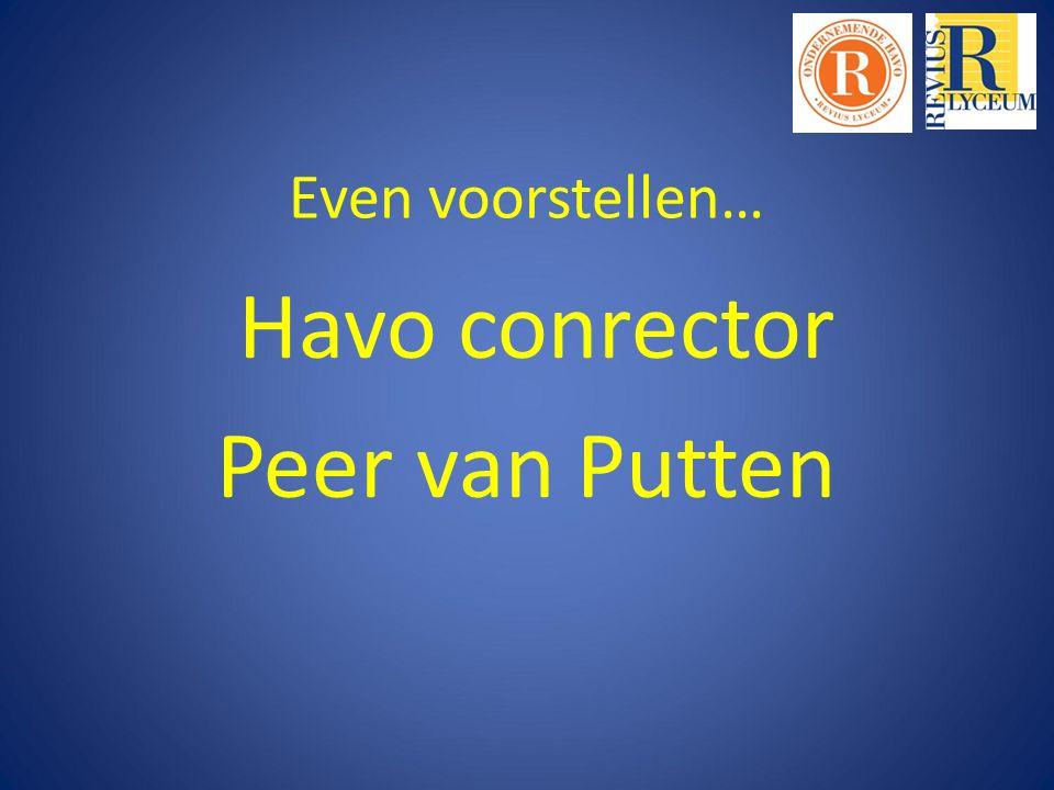 Even voorstellen… Havo conrector Peer van Putten