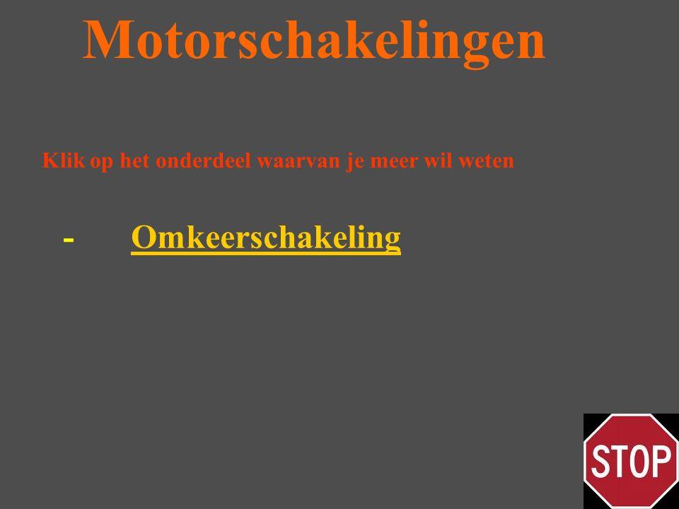 Motorschakelingen -OmkeerschakelingOmkeerschakeling Klik op het onderdeel waarvan je meer wil weten