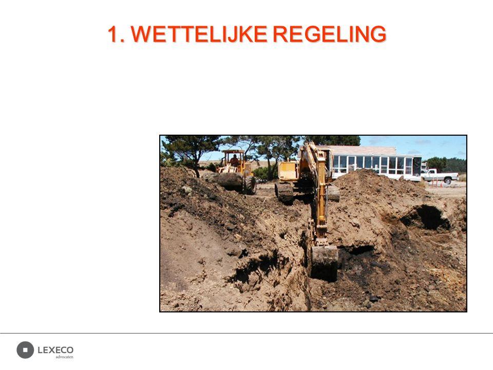 Vlarebo Artikel 174 Vlarebo De initiatiefnemer grondwerken neemt in de aanbestedingsdocumenten, de prijsvraag of de contractuele documenten clausules op die waarborgen dat de regelen met betrekking tot het gebruik van uitgegraven bodem, vermeld in dit hoofdstuk, toegepast worden.