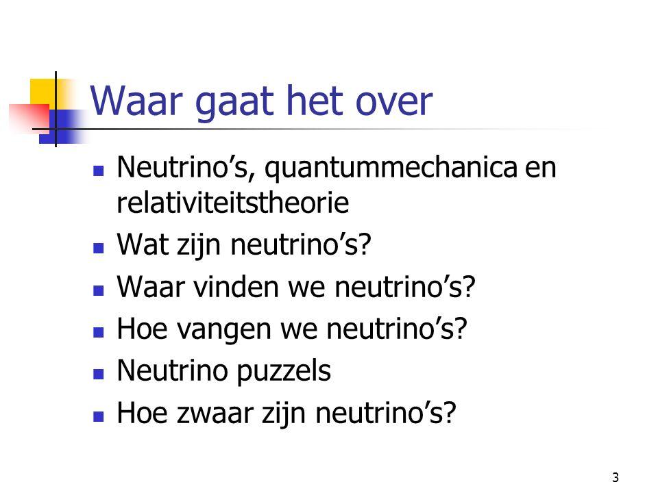 2 Het ongrijpbare neutrino Piet Mulders Vrije Universiteit Amsterdam mulders@nat.vu.nl