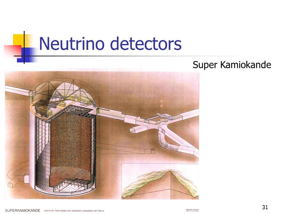 30 Neutrino detectors Sudbury Neutrino Observatory (SNO)