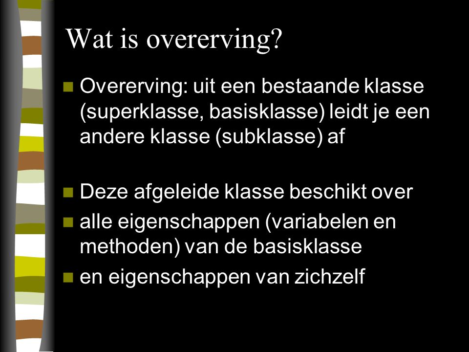 Wat is overerving.