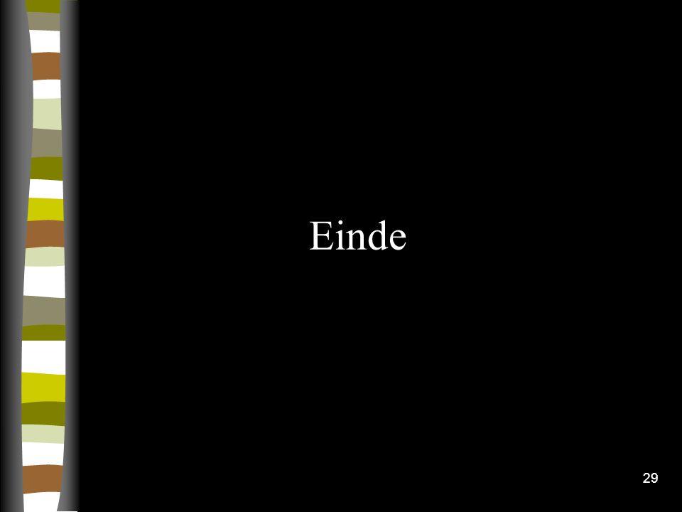 29 Einde
