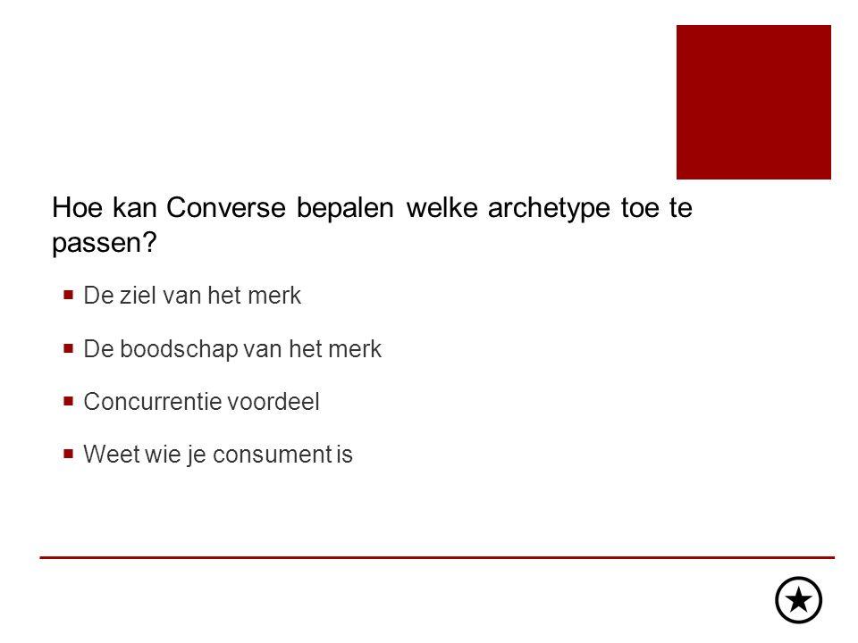 Hoe kan Converse bepalen welke archetype toe te passen.