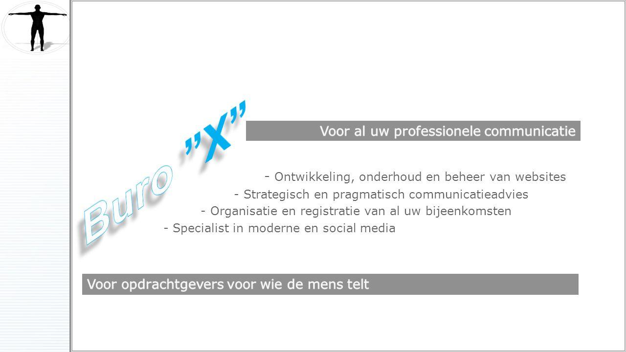 - Ontwikkeling, onderhoud en beheer van websites - Strategisch en pragmatisch communicatieadvies - Organisatie en registratie van al uw bijeenkomsten