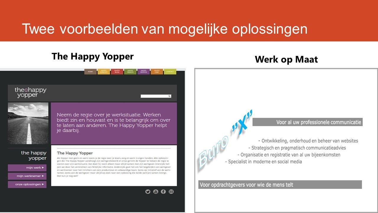 Twee voorbeelden van mogelijke oplossingen The Happy Yopper Werk op Maat