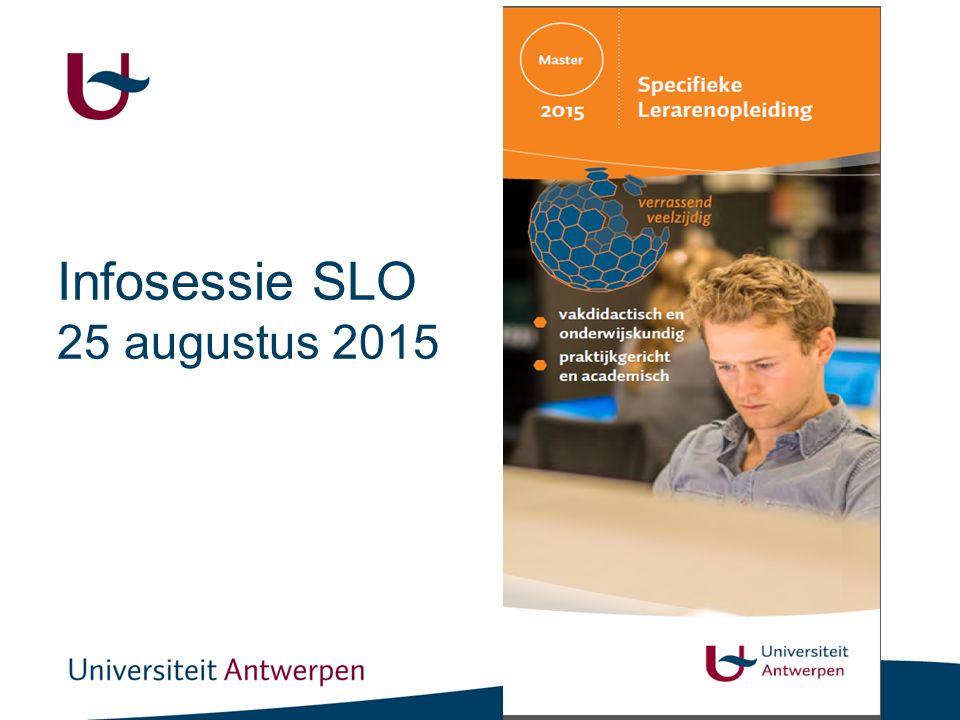 Infosessie SLO 25 augustus 2015
