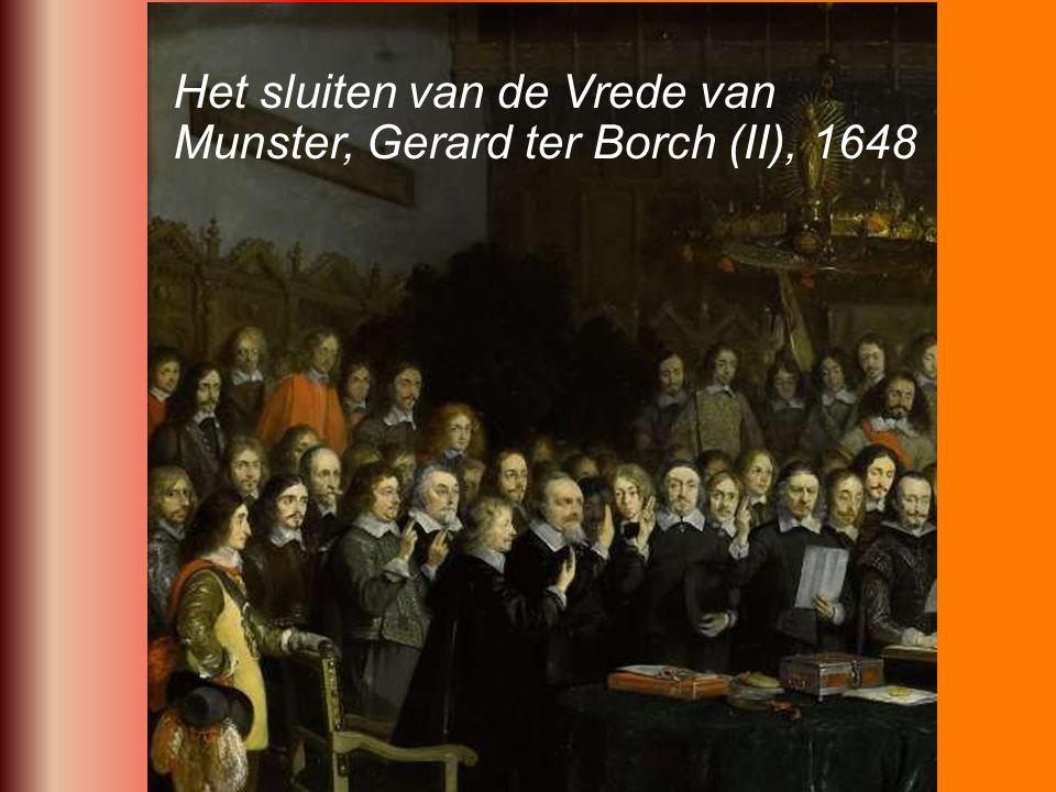 Het sluiten van de Vrede van Munster, Gerard ter Borch (II), 1648