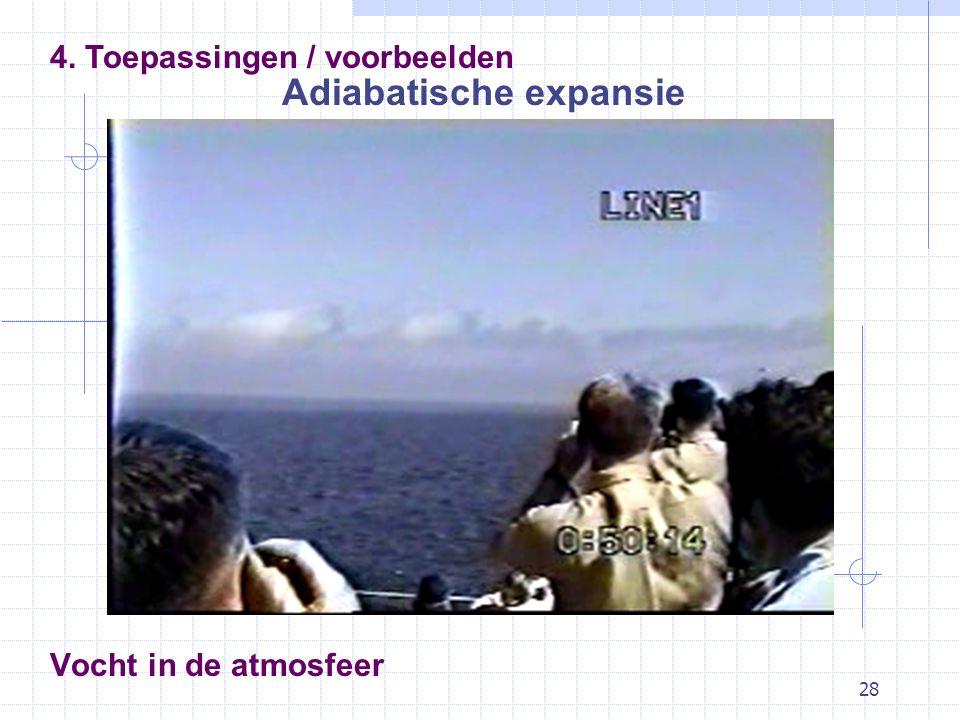 28 Vocht in de atmosfeer Adiabatische expansie 4. Toepassingen / voorbeelden