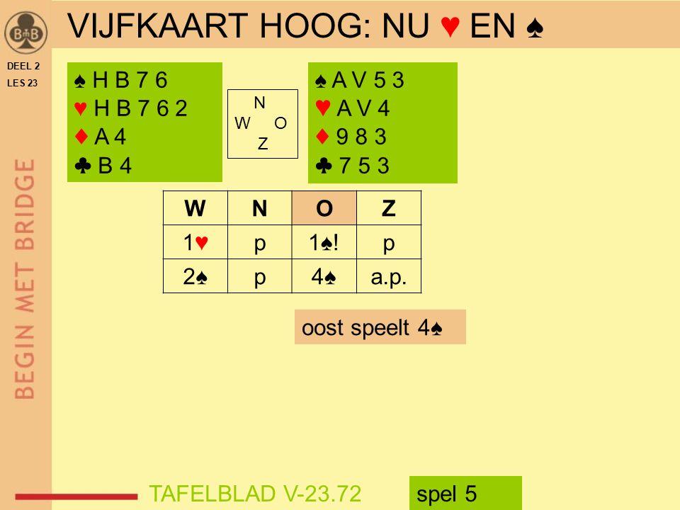N W O Z WNOZ 1♥1♥p1♠!p 2♠2♠p4♠4♠a.p.