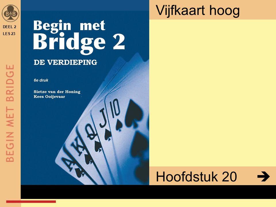 DEEL 2 LES 23 Hoofdstuk 20  Vijfkaart hoog x