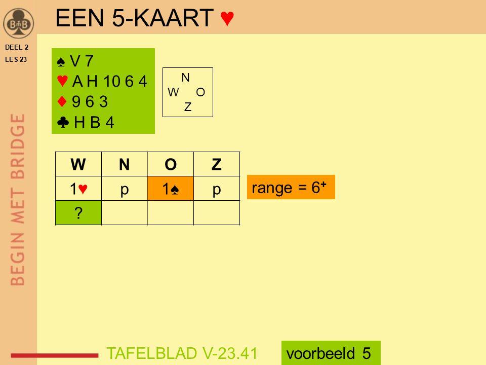 ♠ V 7 ♥ A H 10 6 4 ♦ 9 6 3 ♣ H B 4 N W O Z WNOZ 1♥1♥p1♠p .