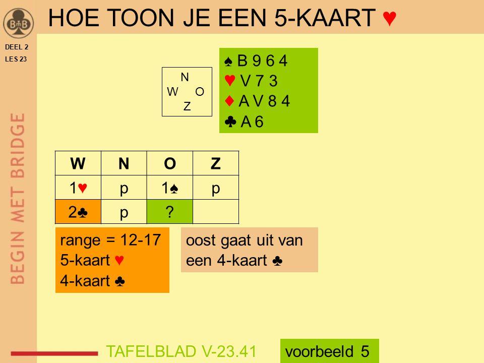 N W O Z ♠ B 9 6 4 ♥ V 7 3 ♦ A V 8 4 ♣ A 6 WNOZ 1♥1♥p1♠p 2♣p.