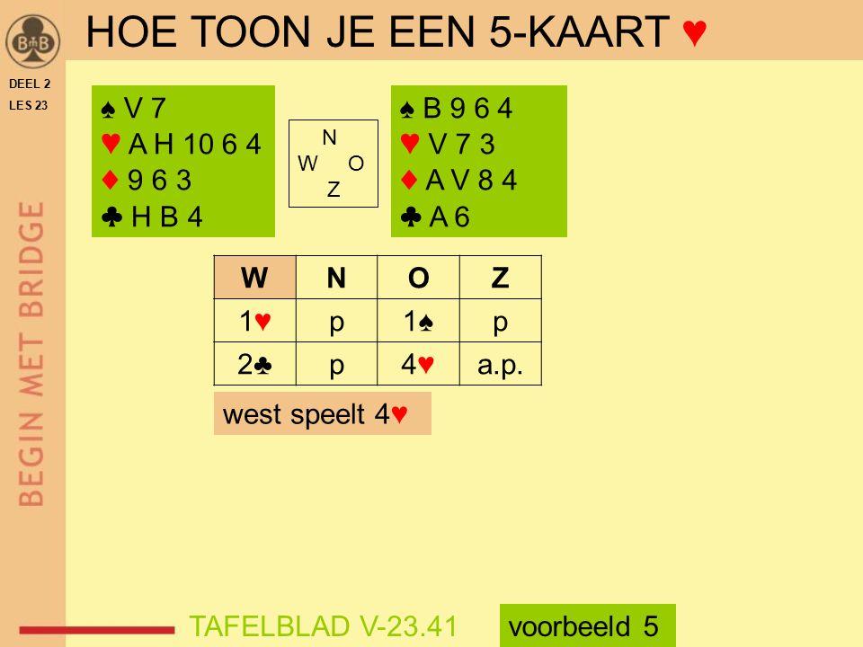 ♠ V 7 ♥ A H 10 6 4 ♦ 9 6 3 ♣ H B 4 N W O Z ♠ B 9 6 4 ♥ V 7 3 ♦ A V 8 4 ♣ A 6 WNOZ 1♥1♥p1♠p 2♣p4♥4♥a.p.