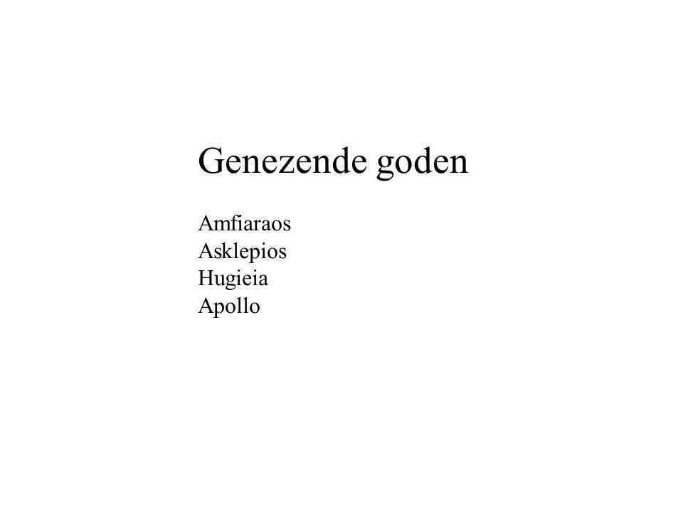 Genezende goden Amfiaraos Asklepios Hugieia Apollo