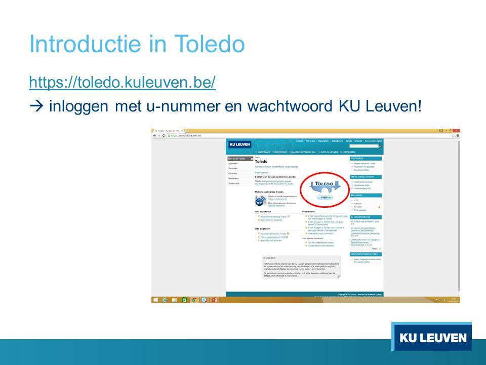 https://toledo.kuleuven.be/  inloggen met u-nummer en wachtwoord KU Leuven!