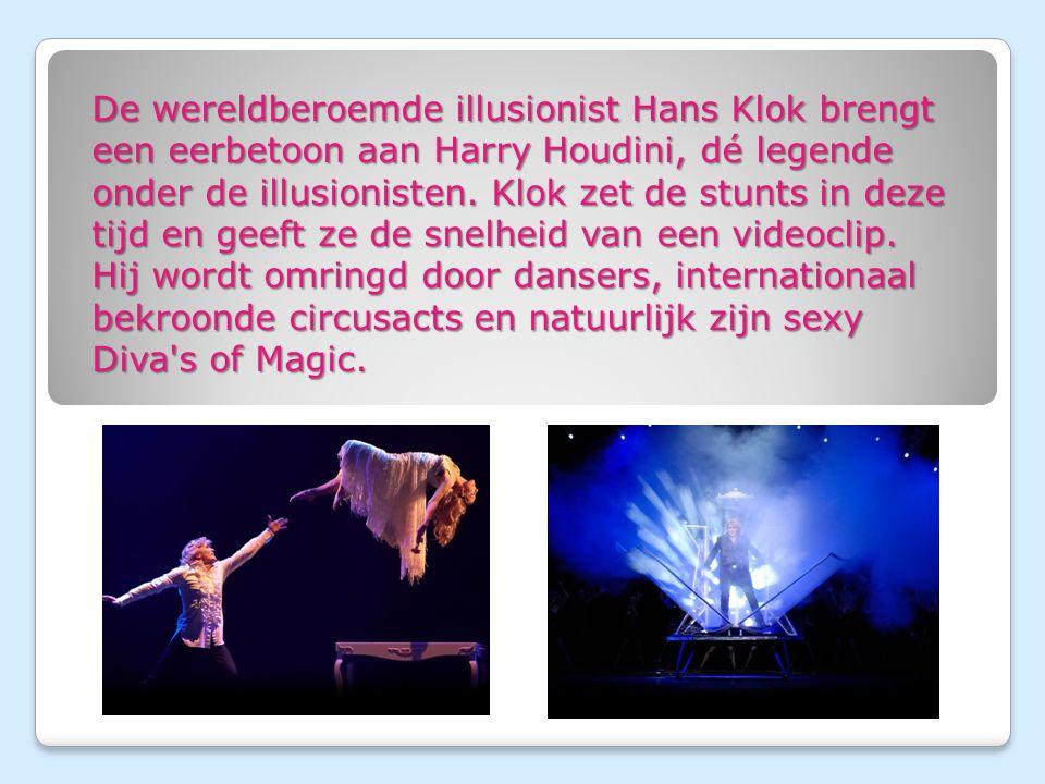 De wereldberoemde illusionist Hans Klok brengt een eerbetoon aan Harry Houdini, dé legende onder de illusionisten.
