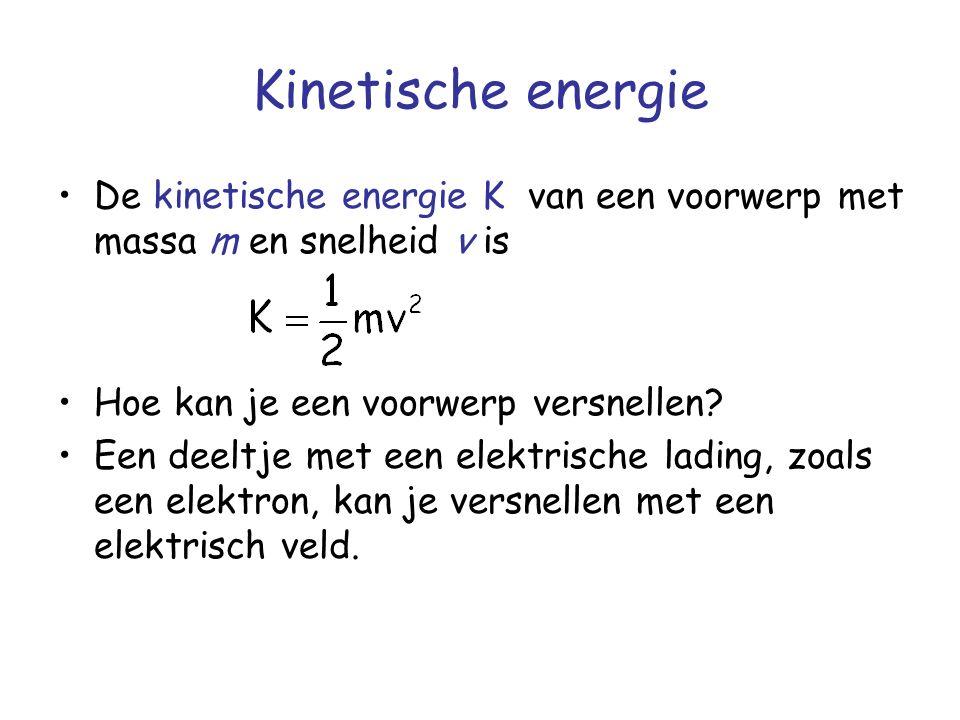 Kinetische energie De kinetische energie K van een voorwerp met massa m en snelheid v is Hoe kan je een voorwerp versnellen.