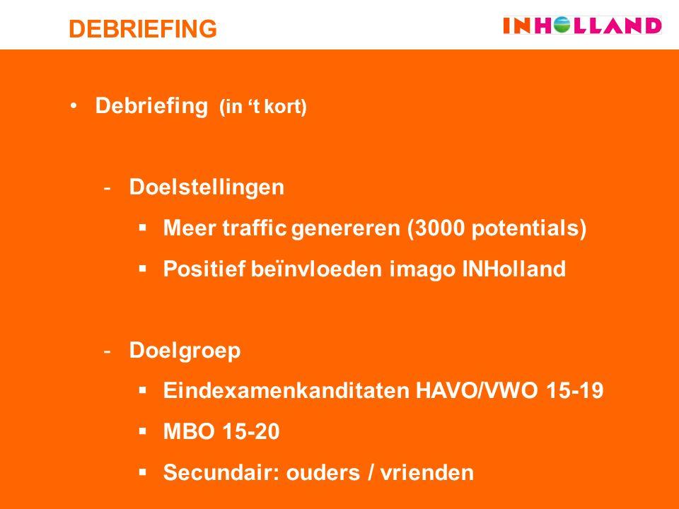 Onderzoek  Rapportage Open Dag INHolland 8 nov.