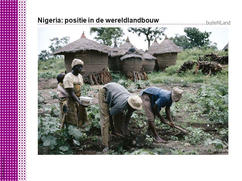 Nigeria: positie in de wereldlandbouw Door globalisering betrokken bij wereldeconomie: Nigeriaanse boer heeft wereldwijde concurrentie door exportsubs