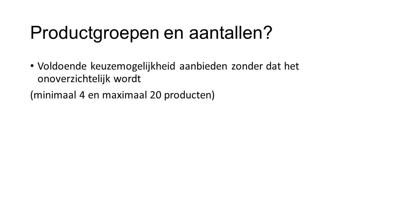 Product Goed presenteren (esprit.nl / wehkamp.nl): foto's vanuit verschillende hoeken Informatie aanbieden op niveau van wat klant zoekt: voer alle beschikbare informatie in én durf schrappen