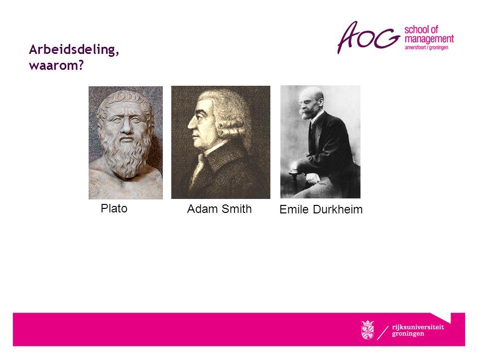 Arbeidsdeling, waarom Plato Adam Smith Emile Durkheim