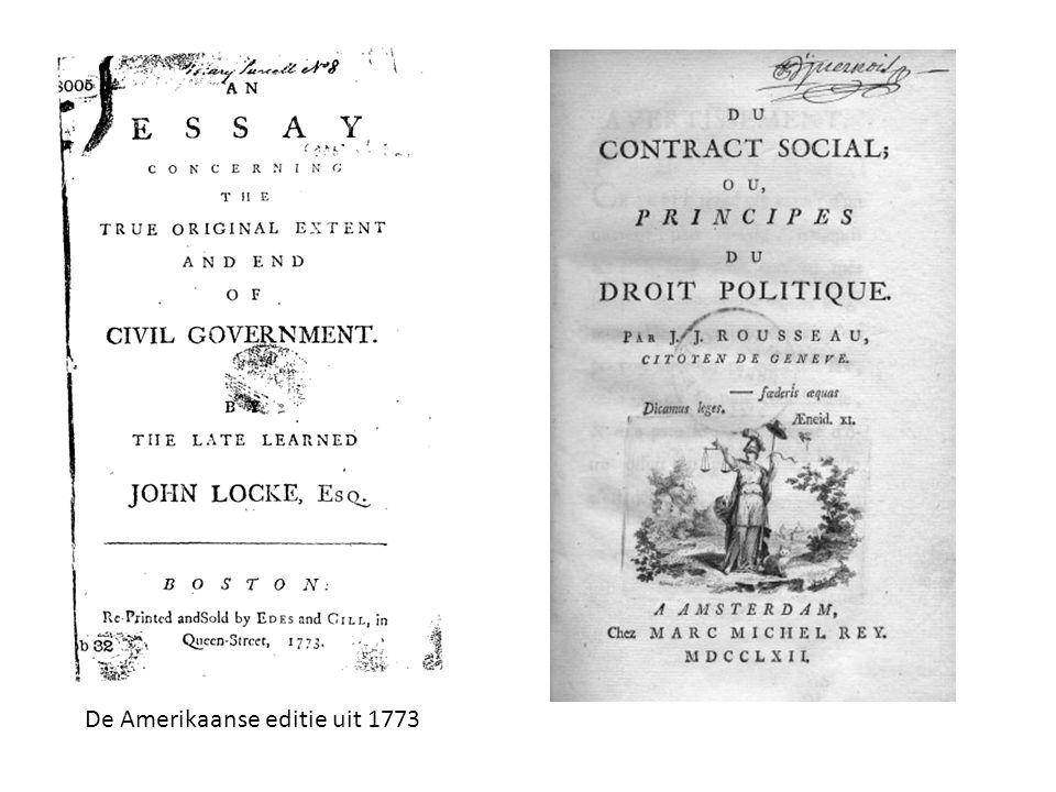 De Amerikaanse editie uit 1773