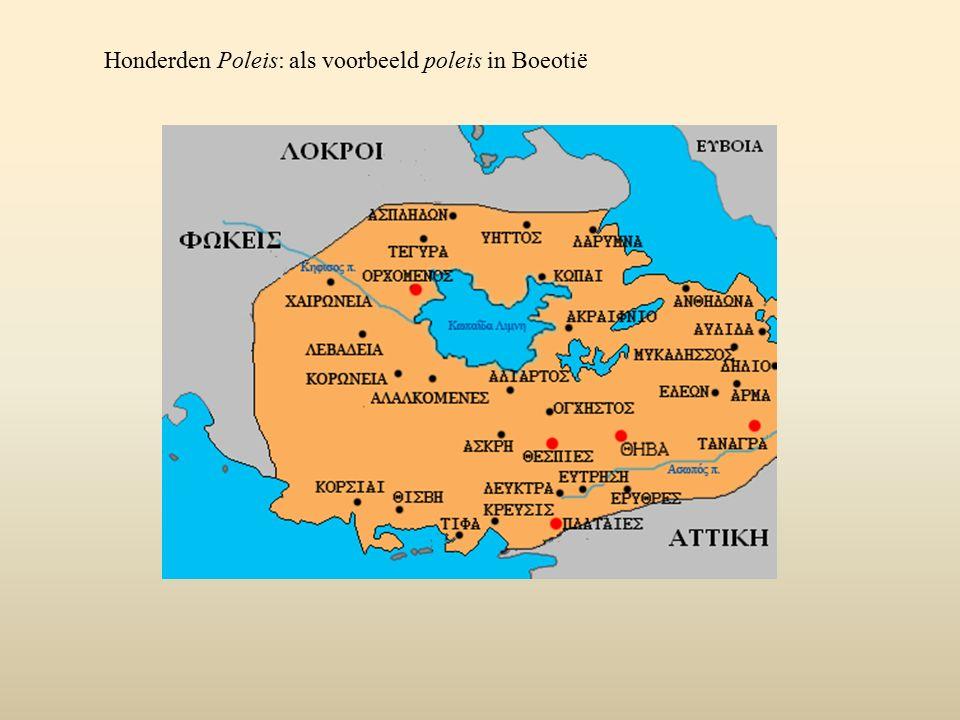 en Grieks moederland Groen: Grieks moederland (Grieks vasteland, Griekse eilanden en de kust van Klein-Azië) en de Griekse 'kolonies' (= nieuw gestichte zelfstandige poleis op de kusten van Spanje, Zuid- Frankrijk, Sicilië en Zuid-Italië, Noord-Afrika, Hellespont en Bosporus en de Zwarte Zee) Archaïsche 'kolonisatie'