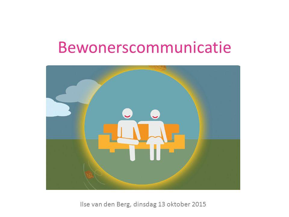 Bewonerscommunicatie Ilse van den Berg, dinsdag 13 oktober 2015