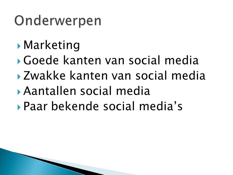  Veel bedrijven hebben medewerkers die op social media zitten.