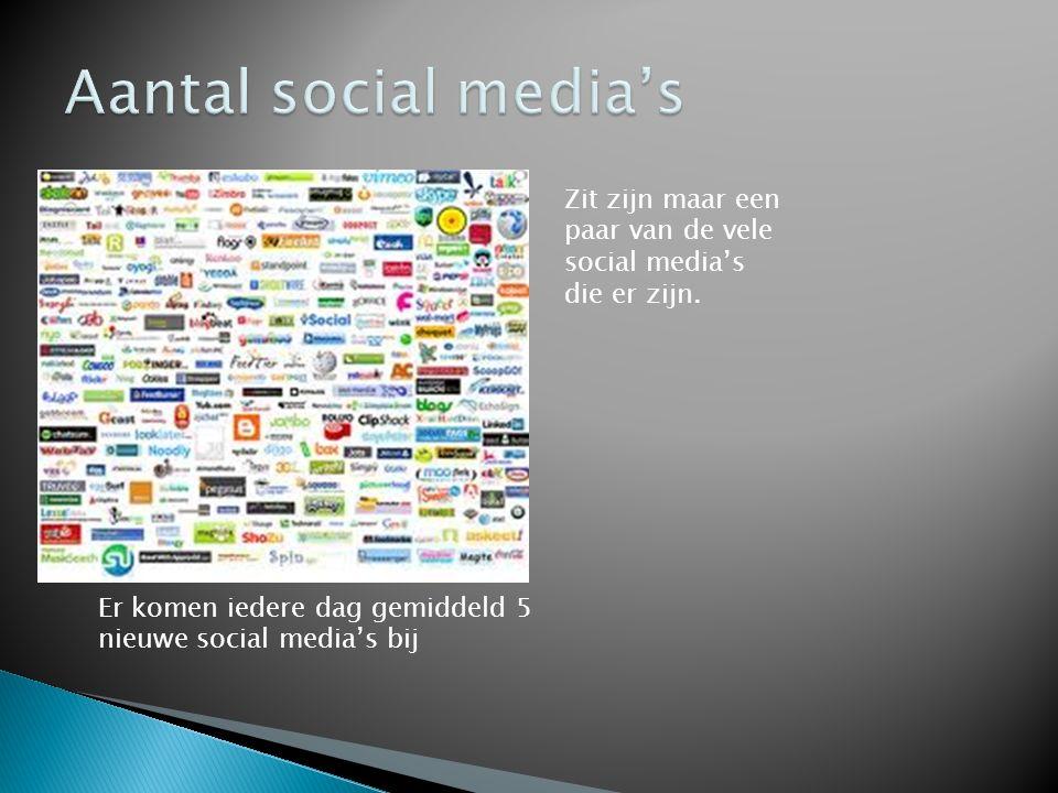 Zit zijn maar een paar van de vele social media's die er zijn.