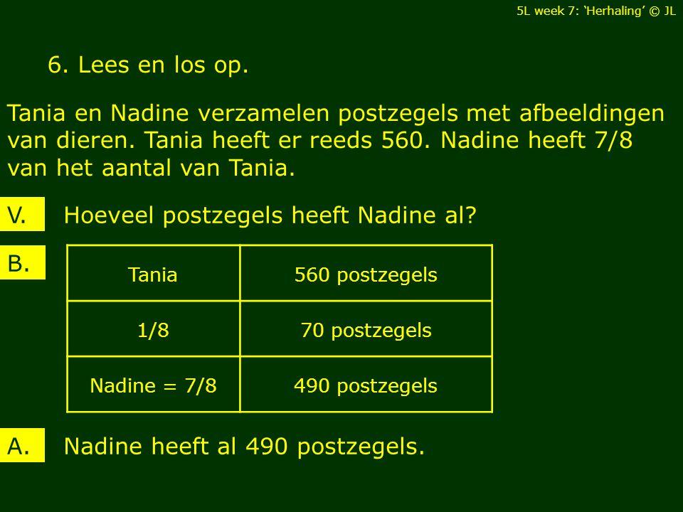 6. Lees en los op. Tania en Nadine verzamelen postzegels met afbeeldingen van dieren.