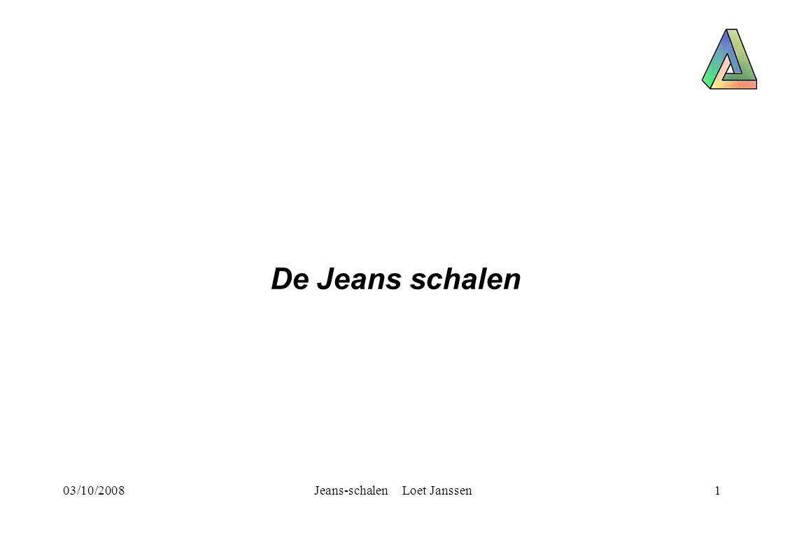 03/10/2008Jeans-schalen Loet Janssen1 De Jeans schalen